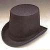 Black Permafelt Lrg. Coachman Hat